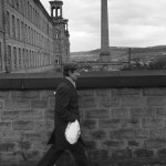 1980'S FACTORY WORK   ENGLAND WORKING CLASS SOCIETY SALTS MILL SALTAIRE nr BRADFORD YORKSHIRE