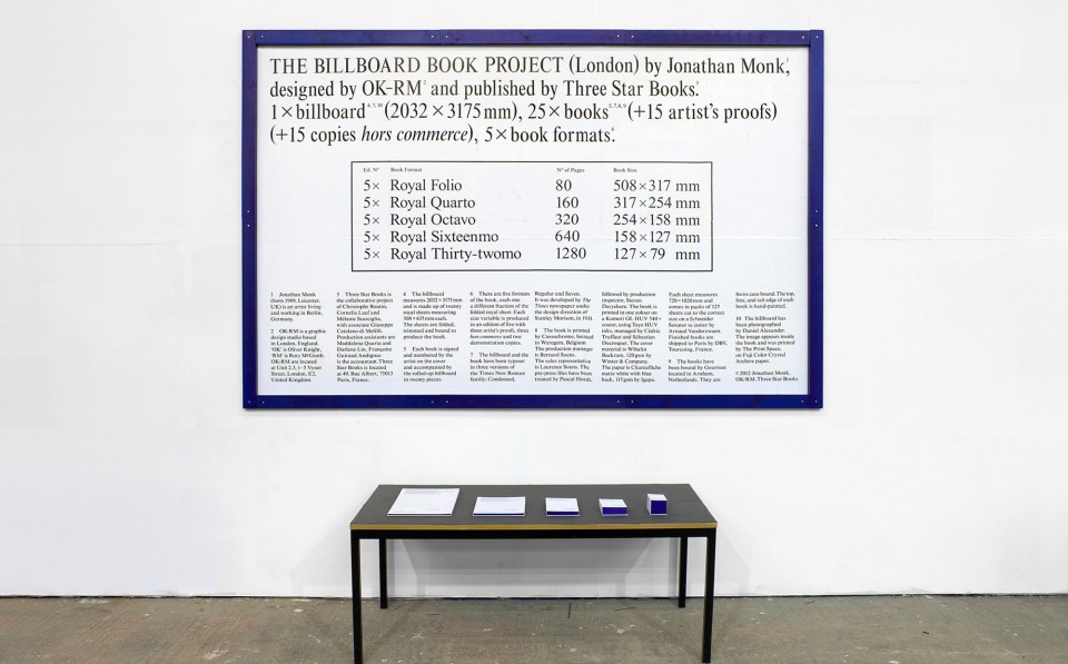 Jonathan Monk_The Billboard Book Project