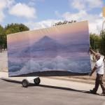 """Fabio Cunha, iš instaliacijos """"Nustumti kalną"""""""